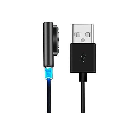 Sony Xperia LED Magnétique USB Câble,EasyULT 1M/3FT charge de métal magnétique câble LED pour sony xperia Z1 Z2 Z3