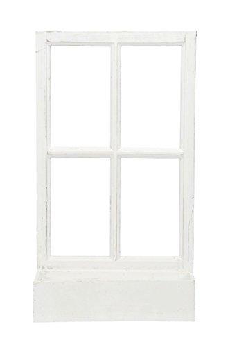 fensterrahmen deko fenster Deko-Fenster Fensterrahmen mit Pflanzkasten Holz Weiss Shabby