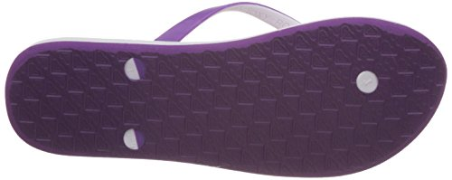 Roxy Tahiti V J Sndl Whp, Tongs femme Violet - Violett (White / Purple)