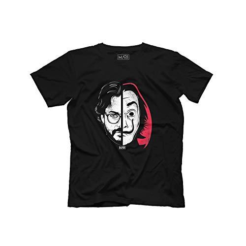 Camiseta La casa de Papel el Professor Tokyo (L, Negro)