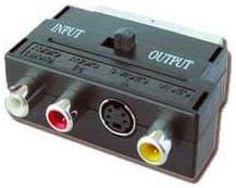 Iggual PSICCV-4415 - Adaptador Euroconector a RCA/S-Video, SCART