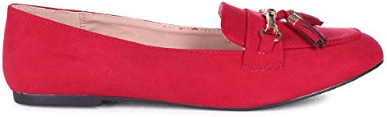Linzi - Mocasines de Material Sintético para mujer rojo Red