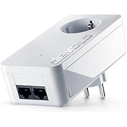 devolo dLAN 550 duo+ Powerlan Adapter (2x LAN Port, Kompaktgehäuse, Netzwerk, LAN Steckdose einfaches LAN Netzwerk aus der Steckdose) weiß