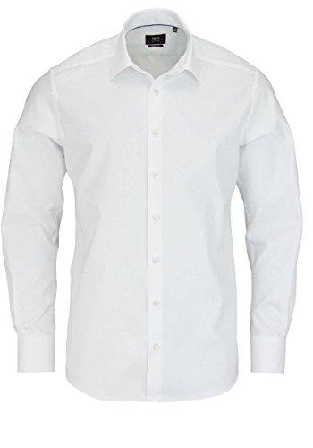 Eterna Long Sleeve Shirt Modern Fit Herringbone Uni Bianco