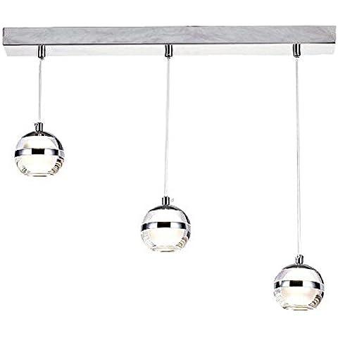 DINGGU™ 3 luci in stile moderno a LED, lampada a sospensione per lampadario Lampada per isola da pranzo, in cucina