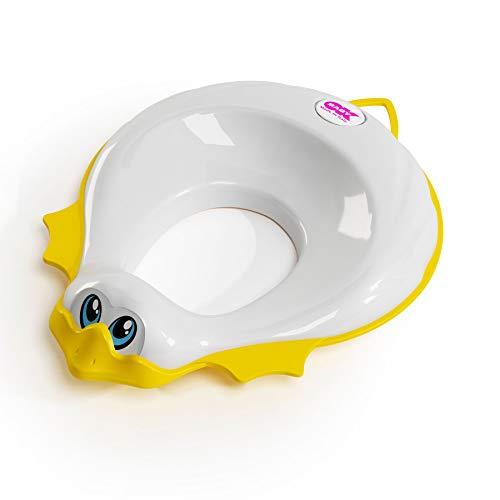 OKBABY Ducka - Riduttore per WC con Bordo Antiscivolo - Bianco