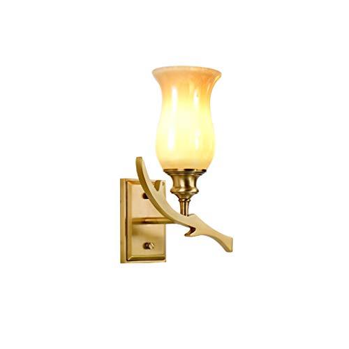 Moderne Et Simple Cuivre Country Garden Applique Lampe De Chevet Applique Murale Salon Miroir Avant Lampe E14