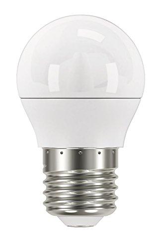 EMOS LED Lampe Mini Globe G45 / A+ / 6 W/Ersetzt 40 W Glühbirne / E27 / Lichtleistung 470 Lumen/Warmweiß - 2700 Kelvin / 30000 Stunden Lebensdauer, Glas, Transparent, 4,5 x 4,5 x 7,4 cm (Globe-lampen)
