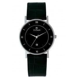Titan Classique Analog Black Dial Men's Watch - NB9162SL02