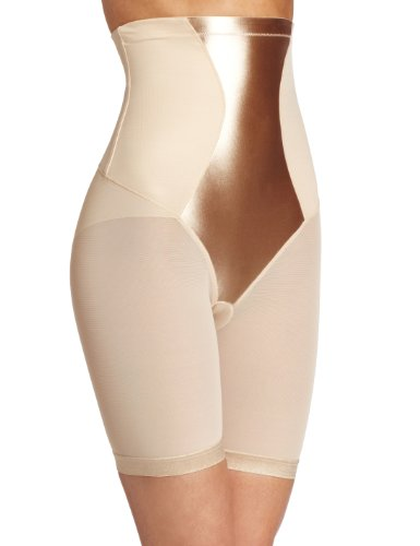 Maidenform Damen Miederhose EASY UP COLLECTION HI WAIST THIGH SLIMMER FIRM CONTROL Beige (LATTE LIFT LLF)