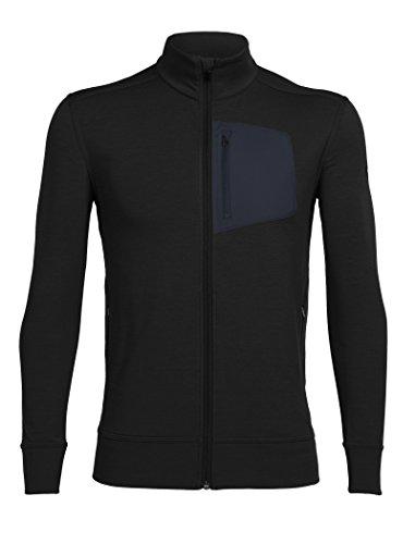 Icebreaker Herren Momentum Long Sleeve Zip Cover Ups Black/Black