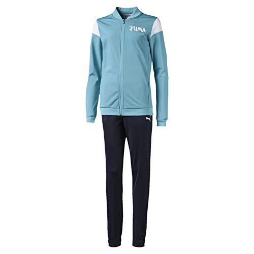 PUMA Mädchen Poly Suit G Trainingsanzug, Milky Blue, 128