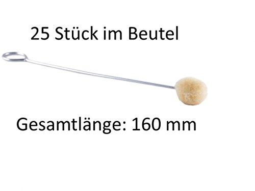 Applikator, Primerpinsel, Wollwischer, 25 Stück im Beutel 160 mm Ø (Griff-beutel)