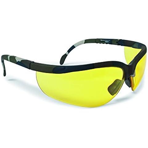 Occhiali da tiro e poligono protezione antiurto - 3 lenti antiappannanti incluse - aste regolabili - by Bertoni