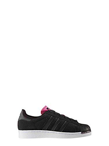 adidas Superstar W, Zapatillas de Deporte para Mujer, Negro Negbas/Rosimp, 37 1/3 EU