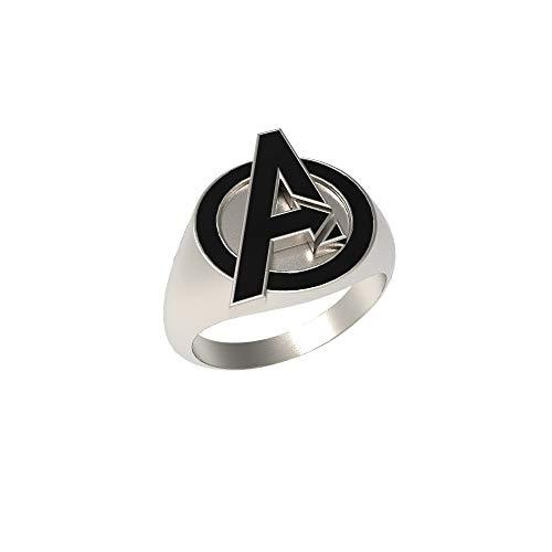Nexthops the Avengers Ring Endgame Ring mit Logo Schwarz aus Zink-Legierung Cosplay Zubehör