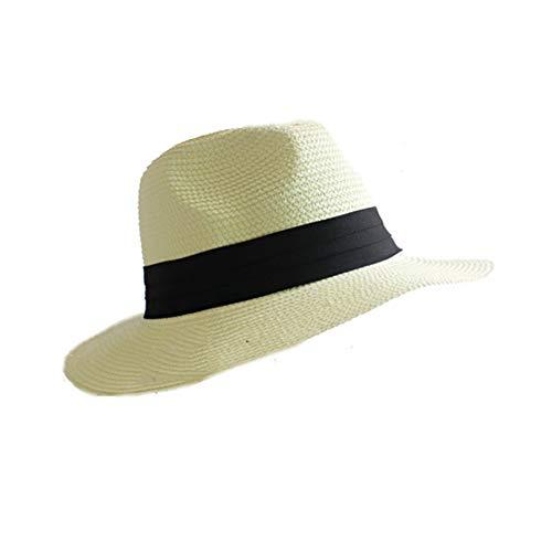 Strohhut Panama Hut Frau Rollbar Faltbar Floppy Sonnenschutz Strohhut Damen Hand Woven Beach Cap Sonnenhut für die Reise Urlaub