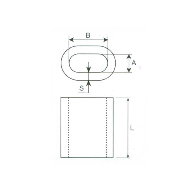 10 pcs manchon aluminium pour câble DIN EN 13411-3 6mm