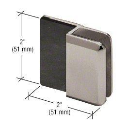 CRL Brushed Nickel Beveled Style Frameless Shower Door Stop by CRL - Brushed Nickel Door Stop