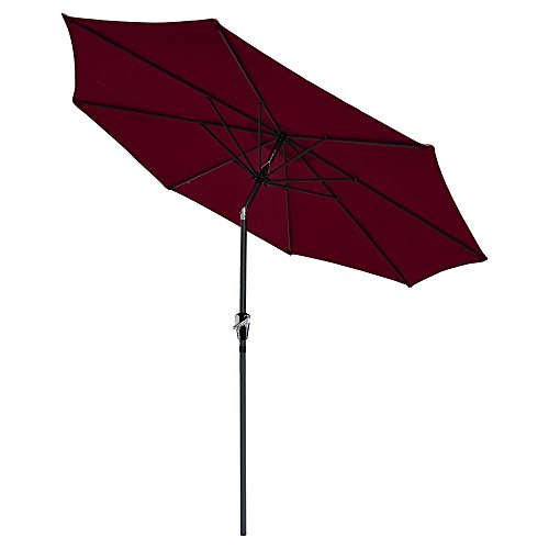 reasejoy-27m9ft-8-rib-outdoor-garden-patio-aluminium-parasol-umbrella-with-crank-and-38mm-tilt-pole-