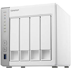 "QNAP TS-431P NAS Tower centro di archiviazione di rete per backup (HDD, SSD, Serial ATA II, Serial ATA III, 2.5/3.5"", 0, 1, 5, 6, 10, JBOD, FAT32,HFS+,NTFS,ext3,ext4, Annapurna Labs)"