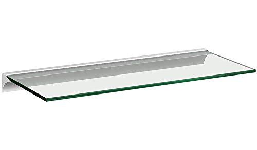 Glasregal / Wandregal Square+Rail | 5 Größen | 4 Dekore | 80x20cm - klar/silber