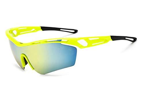 Amody Brille Herren Reitbrille Draussen Brille Sport Sonnenbrille Fahrrad Sonnenbrille Gelbes Gold