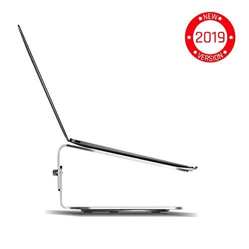 KLIM Supporto Rotante per Mac - Contro il Surriscaldamento - Altezza Regolabile - Design Elegante - Alta Qualità - Alluminio [ Nuova Versione 2019 ]