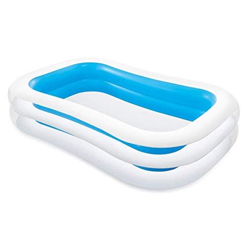 Intex Swim Center Family Pool - Kinder Aufstellpool - Planschbecken - 262 x 175 x 56 cm - Für 6+ Jahre, Blau