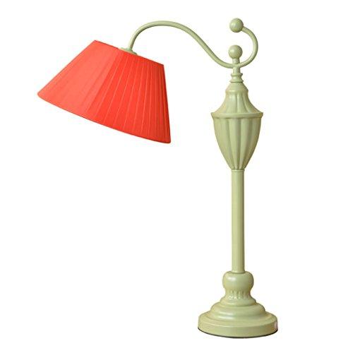 personnalité simple Rurale Lampe De Table Style Européen Simple Style Américain Rurale Etude Chaude Mash Décoration Lampe De Table Chambre Lampe De Chevet (Couleur : Rouge)