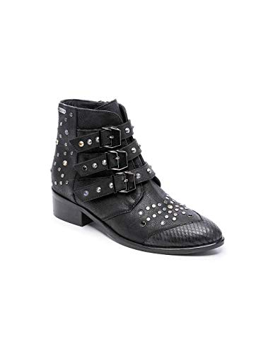 Pepe Jeans London Chiswick London, Botines para Mujer, Negro Black 999, 40 EU