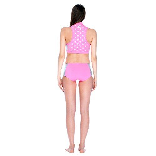 Glidesoul Bikini pezzo sotto da donna, colore: argento, misura media, in neoprene Glide Skin, 0,5 mm nero - Black/Leopard