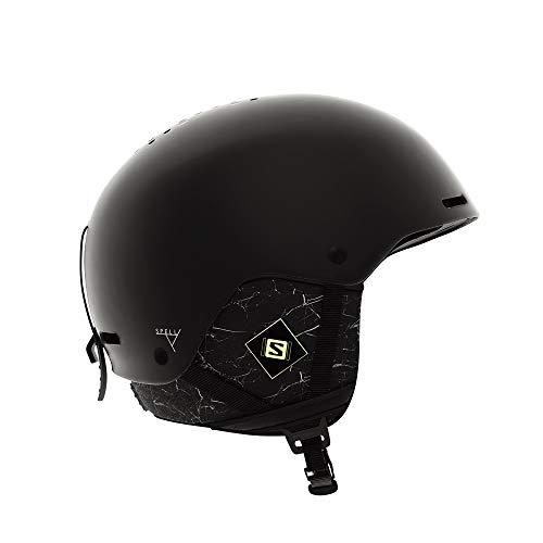 Salomon Damen Spell+ Ski- und Snowboardhelm, ABS-Schale, Smart-Technologie, Kopfumfang 56-59 cm, schwarz (Black Marble), Größe M, L40538900 -