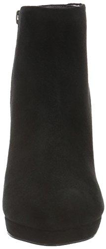 Buffalo 410-10645 L Kid Suede, Bottes Classiques femme Noir - Noir (01)
