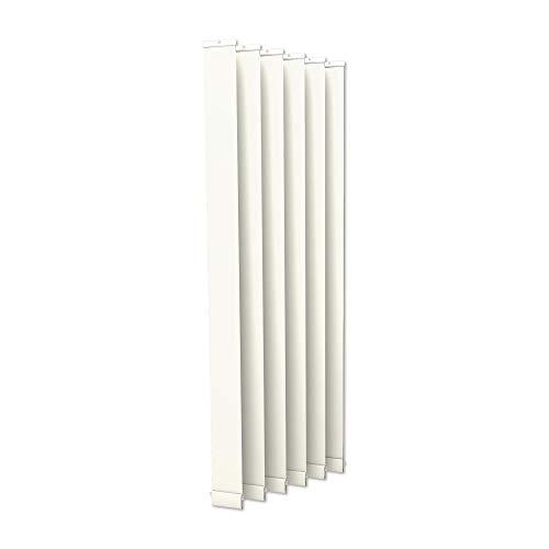 Victoria m. tenda a lamelle verticali isabella - forma a i, leggermente trasparente - 12,7 x 250 cm, bianco | pacco da 6