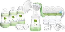 MAM Still-Set, mit Milchpumpe und selbststerilisierenden Flaschen, Grün