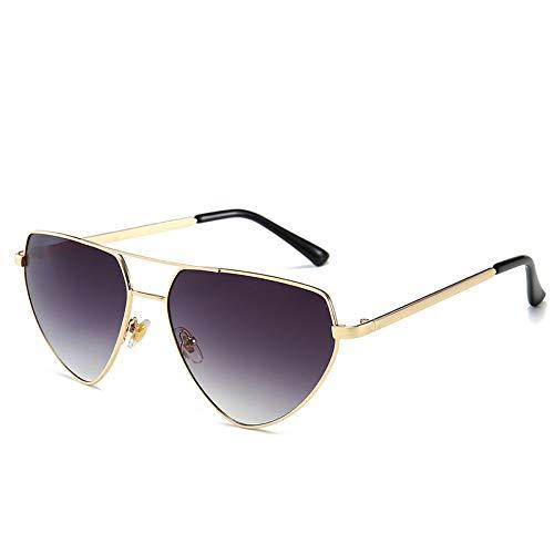 Fashion Sunglasses Europe and the United States Herren and Women Sonnenbrille Netz rot Catwalk Sonnenbrille grau wie abgebildet