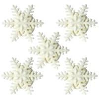 Edible White Sparkle Snowflakes Pk 36 Sugar Cake Toppers for Frozen theme or Christmas cakes
