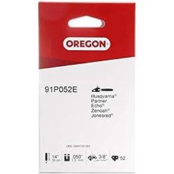 Oregon Standard 91P Chaîne de tronçonneuse pour équiper les Tronçonneuses 35 cm Husqvarna, Mac Allister, McCulloch, Ryobi, Sterwins, Bosch, 52 Maillons Entraineurs