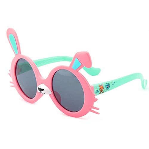 OTENGD Kinder Polarisierte Sonnenbrille Gummi Kinder Sport Uv Schutz Sonnenbrille Gummi Rahmen FüR Jungen MäDchen, Outdoor Strand,Pink