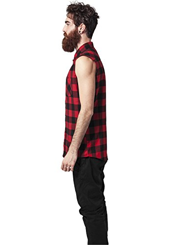Sleeveless Checked Flanell Shirt Rot