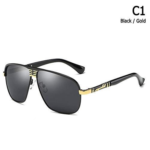 ZHOUYF Sonnenbrille Fahrerbrille Mode Männer Kühlen Polarisierte Luftfahrt Stil Sonnenbrillen Fahren Marke Design Sonnenbrille Oculos De Sol Masculino, A