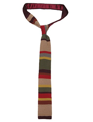 (Doktor Who Gestrickte Krawatte - Offiziell BBC Vierter Doktor (Tom Baker) Strickkrawatte von LOVARZI)