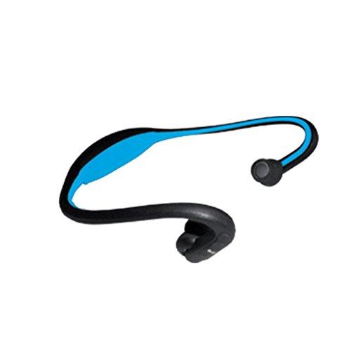 CUFFIA MP3 SPORT 2GB IN PVC RUNNING CORSA CALCIO ALLENAMENTO PALESTRA SPORT CUFFIE NERO-ROYAL