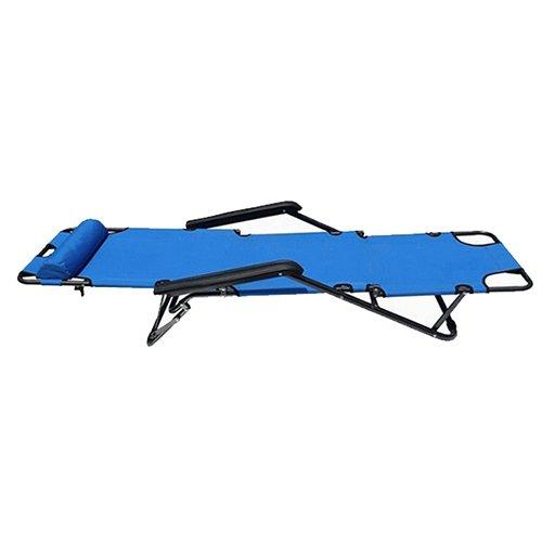 TOOGOO (R)Chaises Siege de salon inclinable Chaises de patio Cour en plein air Plage & Lolol: Bleu Tailles: 60 Pouces