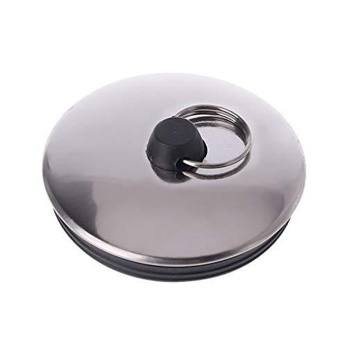 Haptian Küchenablassschraube Wasserstopper Küche Bad Badewanne Waschbecken Becken Entwässerung(Silber + Schwarz-1Stück)
