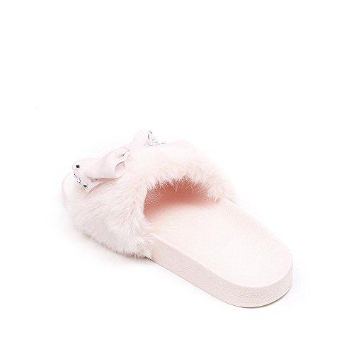 Ideal Shoes, Damen Zehentrenner Rose