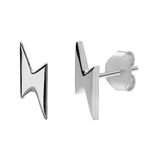 Blitz Ohrringe aus 925 Sterlingsilber Student Geek Nerd by Serebra Jewelry (925 Sterlingsilber)
