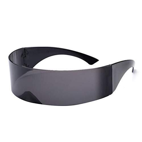 CCGKWW Lustige Futuristische Wrap-Around-Sonnenbrille Maske Neuheit Brille Halloween Party Party Supplies Dekoration