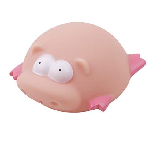 ielzeug Für Kinder Wasserspray Tier Weichen Gummi Spielzeug Ente Grün Frosch Junge Mädchen Sicheres Spielzeug (pink) ()